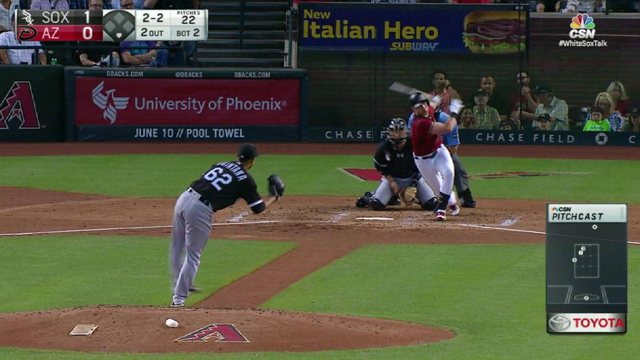 Quintana whiffs Drury in the 2nd