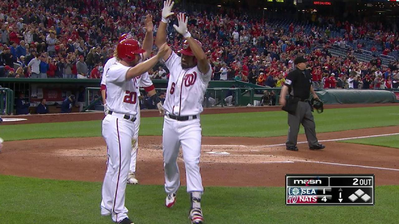 Rendon, Nats jump out early, cruise vs. M's