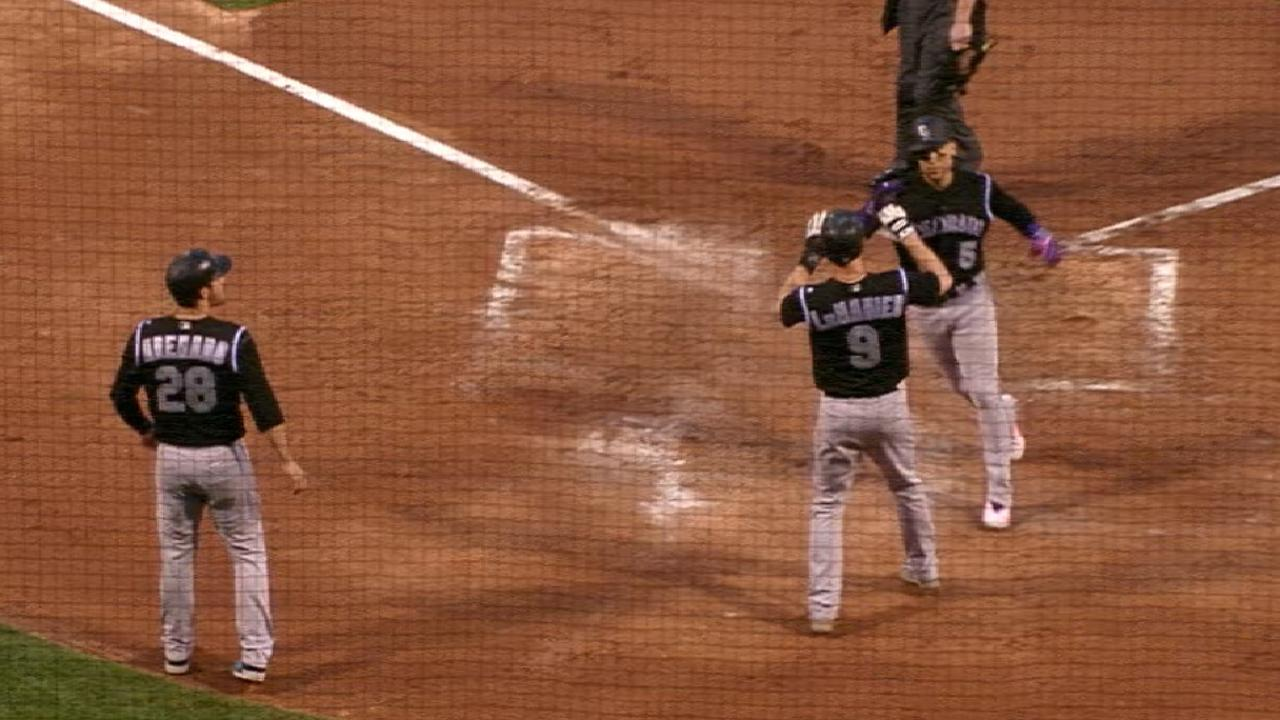 Rockies ride seven-run inning in rout of Phils