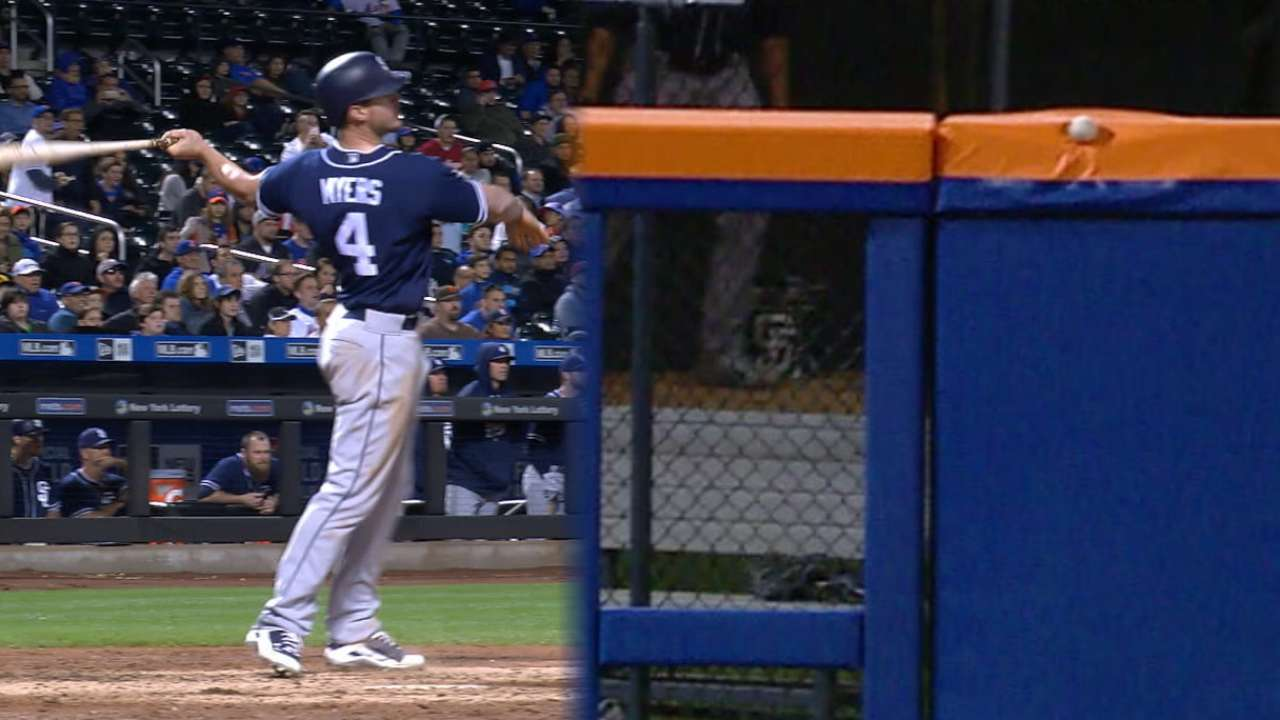 Myers' game-tying two-run single