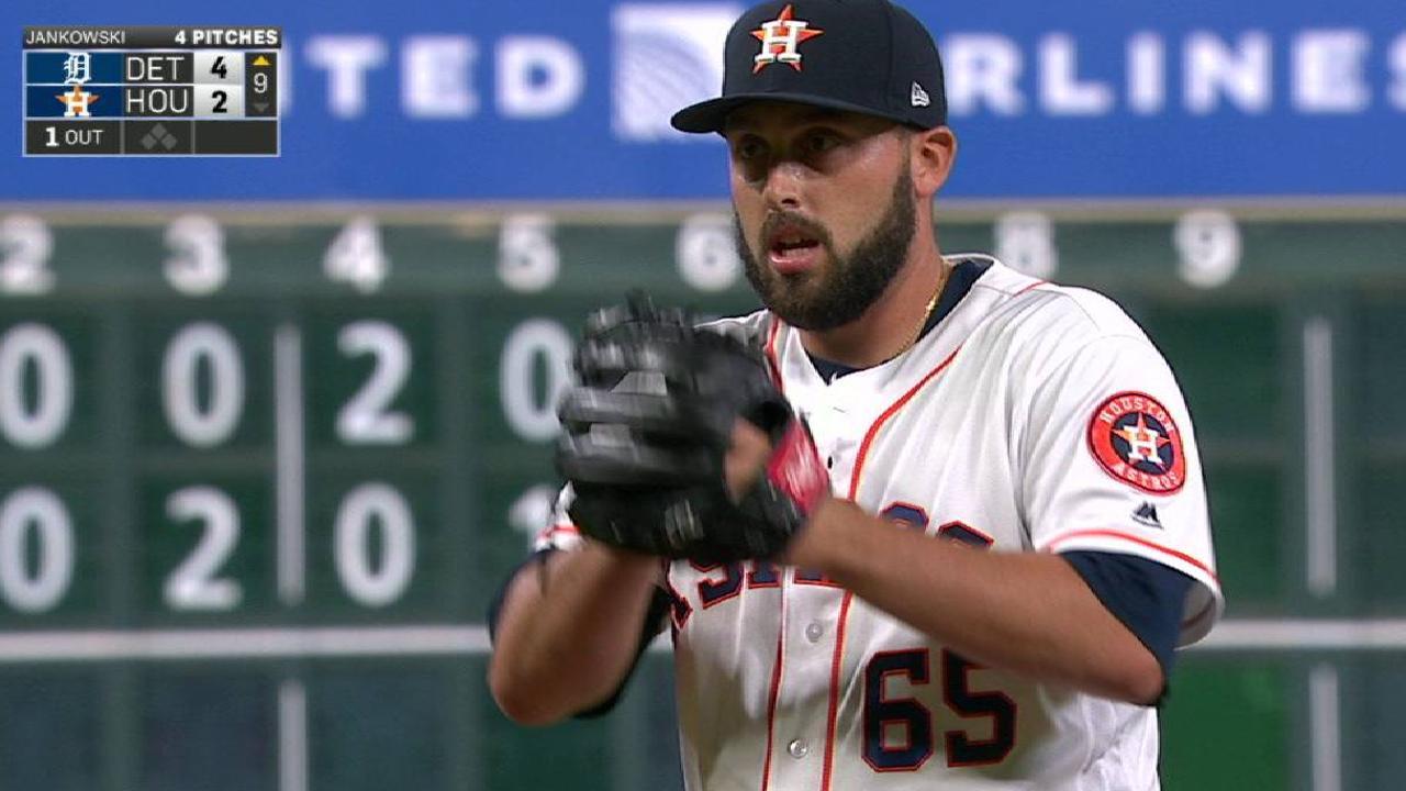 Jankowski's first MLB strikeout