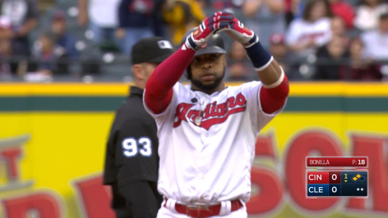 Santana homers and doubles twice