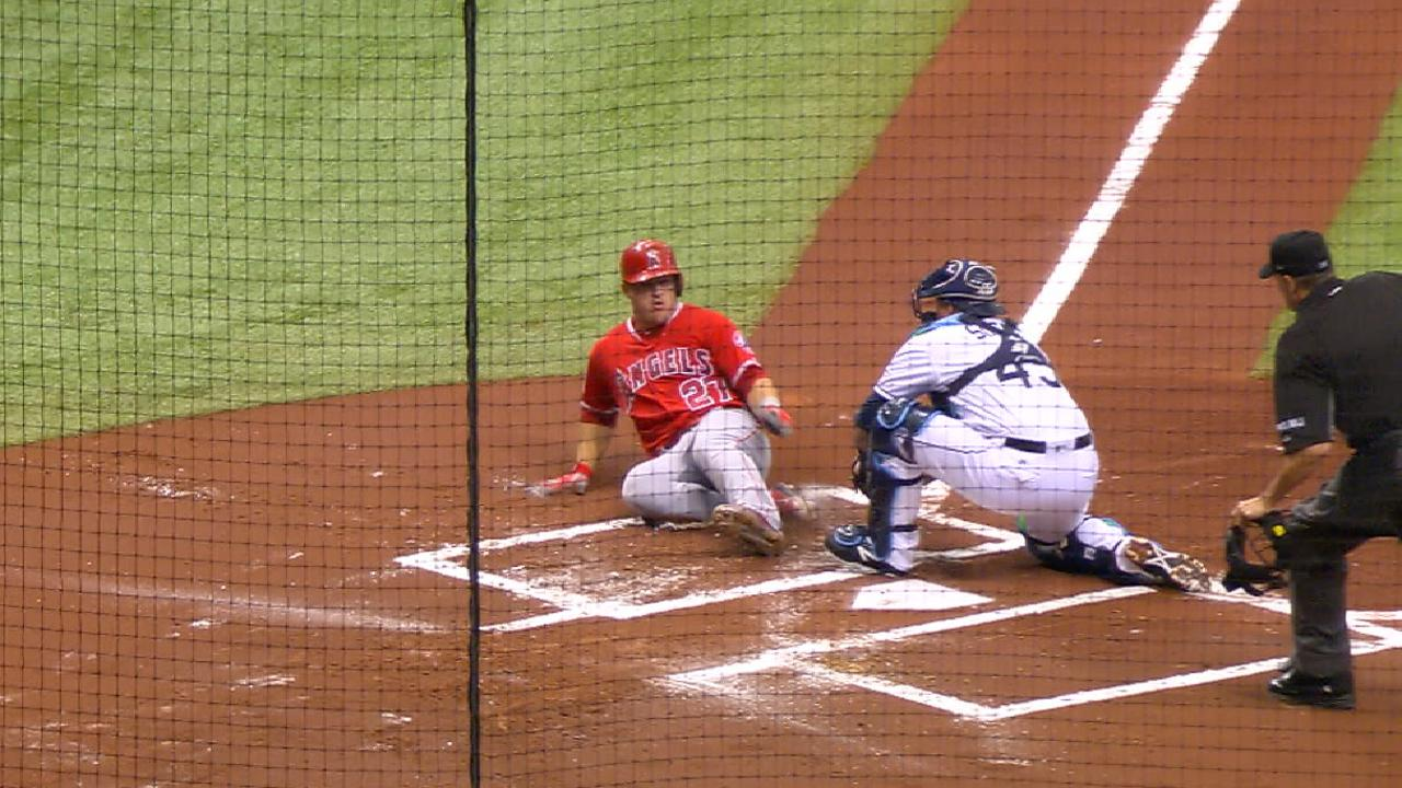 Souza's fastest throw nabs Trout at dish