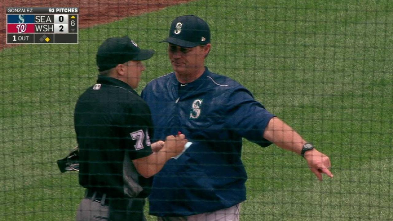 Servais ejected in the 6th