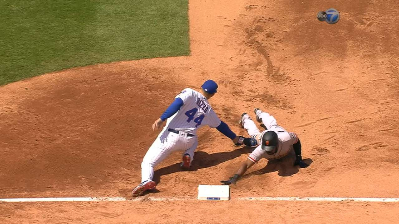 Cubs get pickoff after review