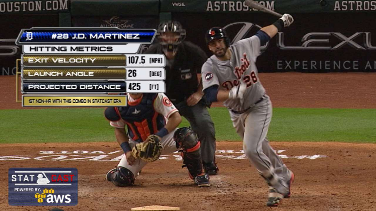 Statcast of the Day: Martinez's two big swings