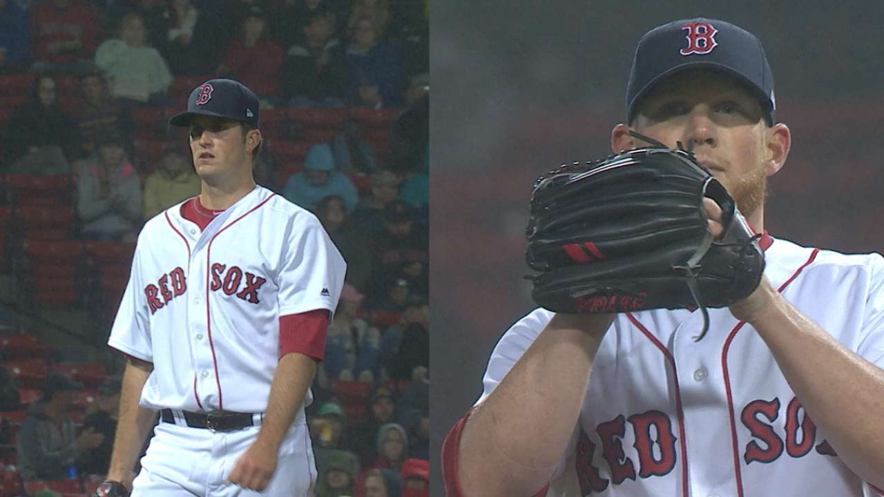 Swing and mist: Red Sox K 20 in rain, KO Texas