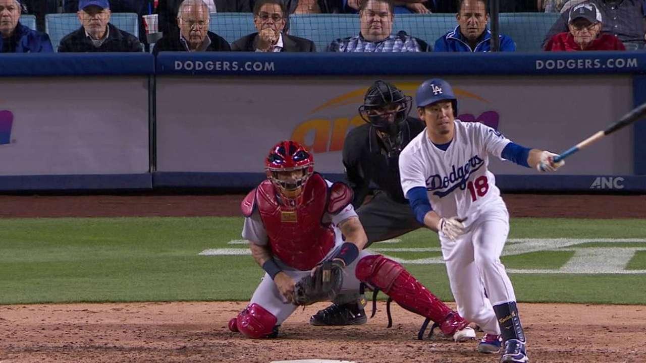 Maeda a dual threat as Dodgers top Cards