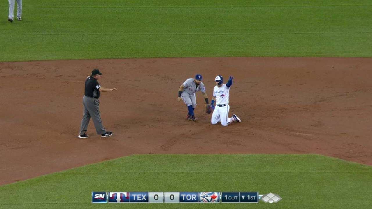 Donaldson's first hit off DL