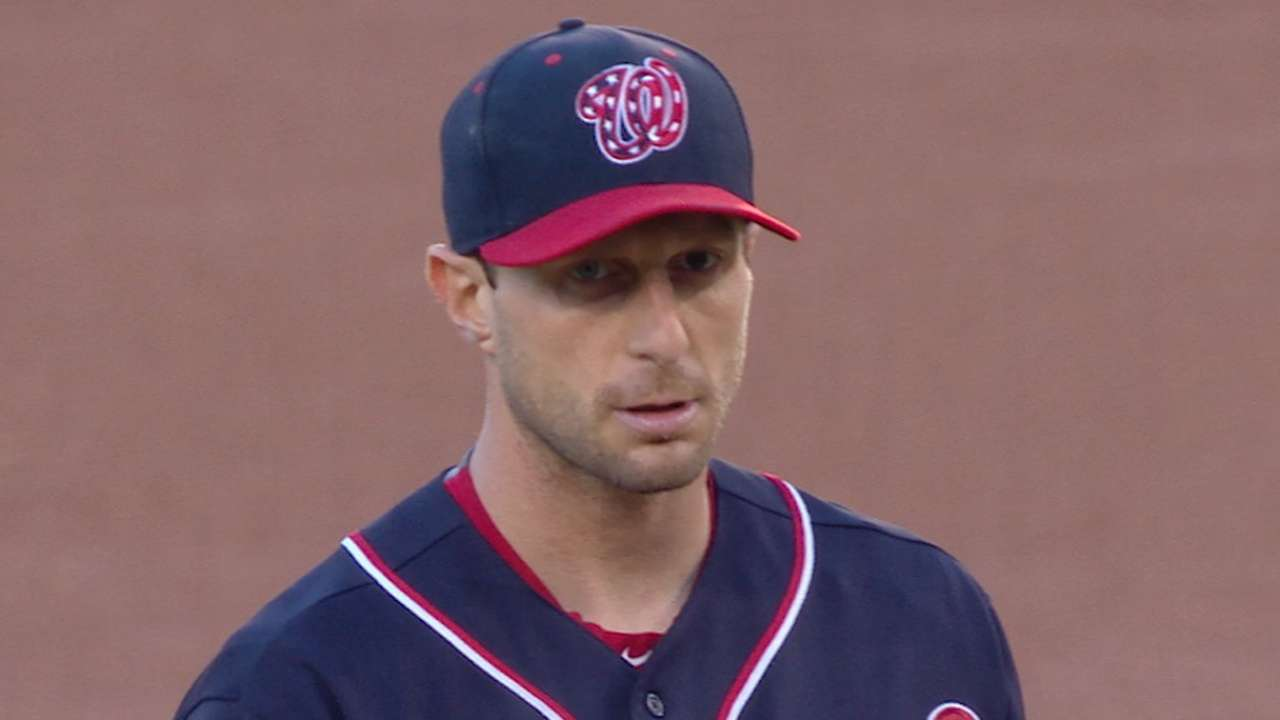 Scherzer K's 13, Harper HRs in win vs. SD
