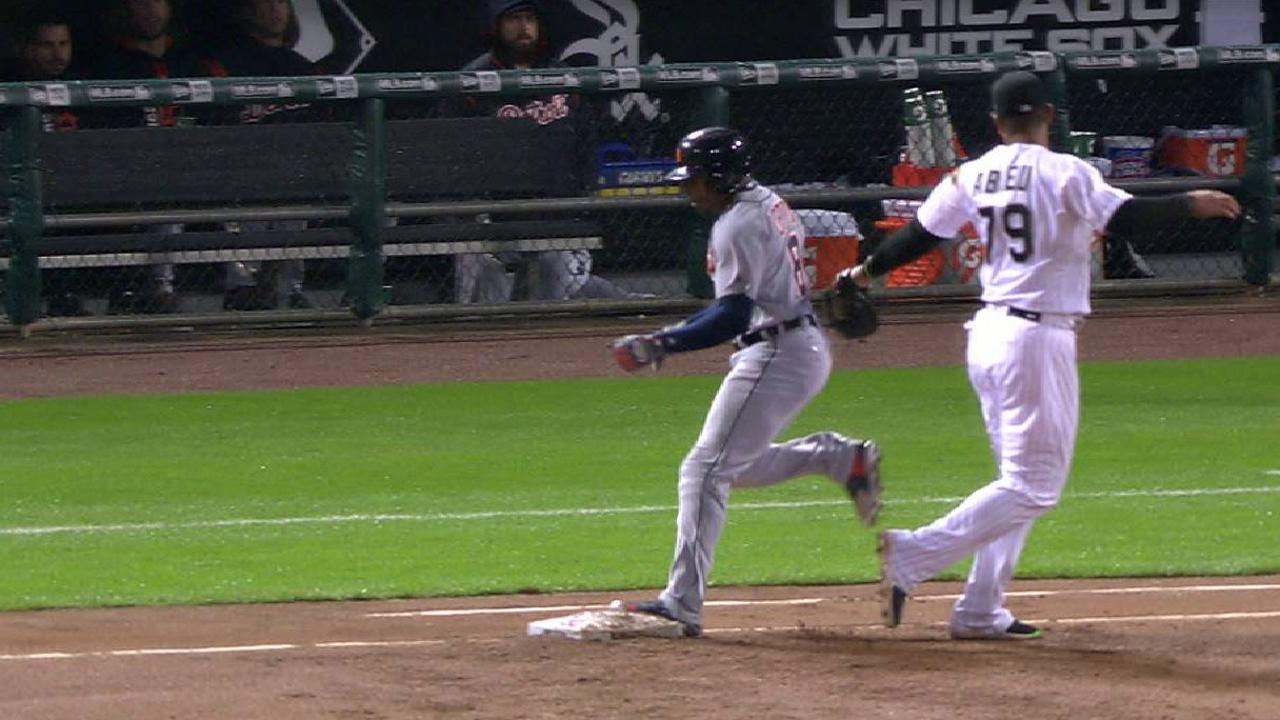 Upton safe at first on review