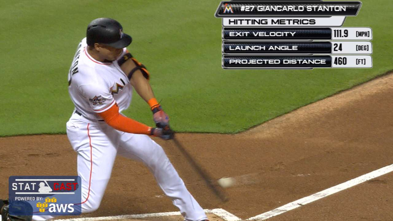 Statcast of the Day: Stanton hits batter's eye