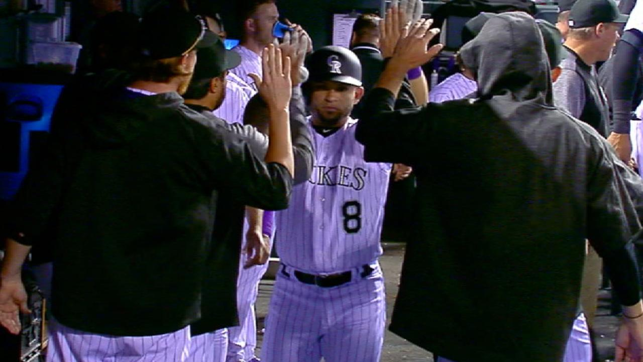 Rockies' eight-run 8th inning