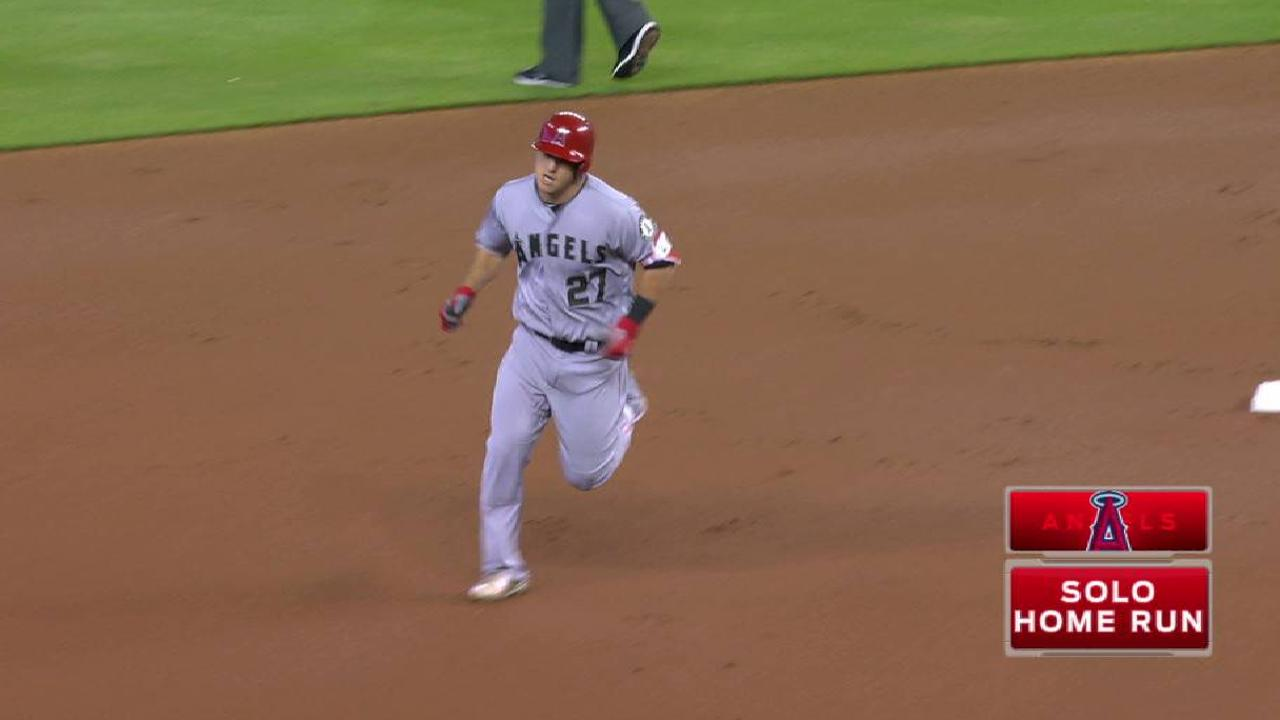 Trout's mammoth solo homer