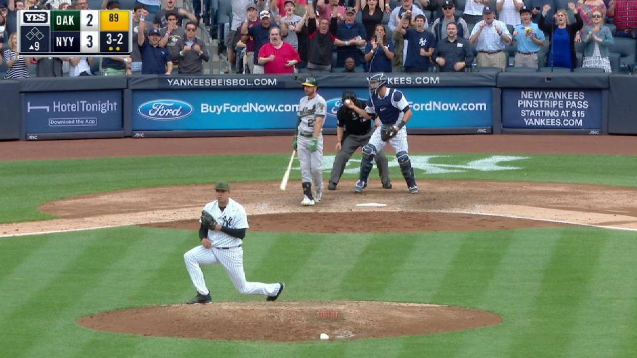 Betances earns five-out save