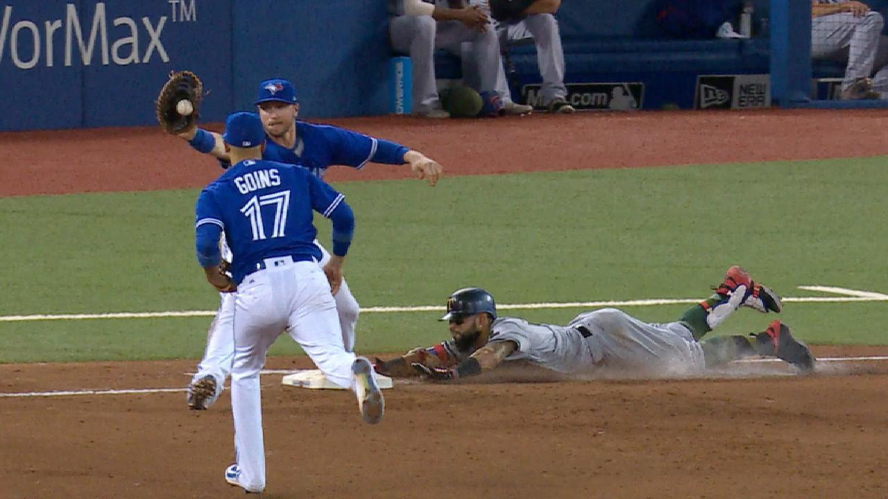 Goins' outstanding glove flip