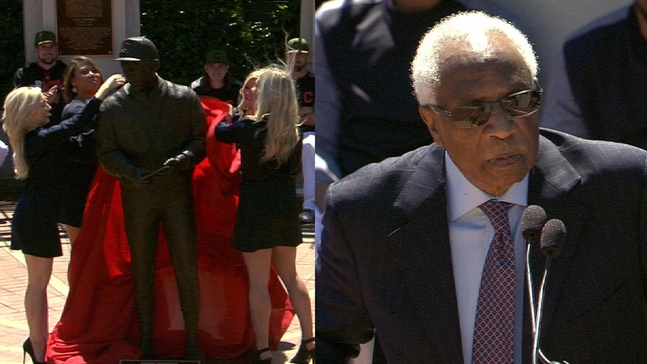Tribe honors MLB great Robinson with statue