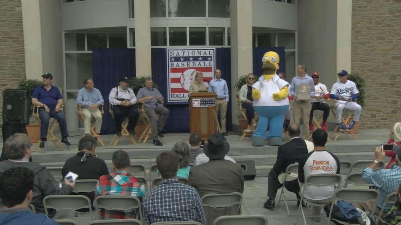 Woo hoo! Homer Simpson 'inducted' into Hall