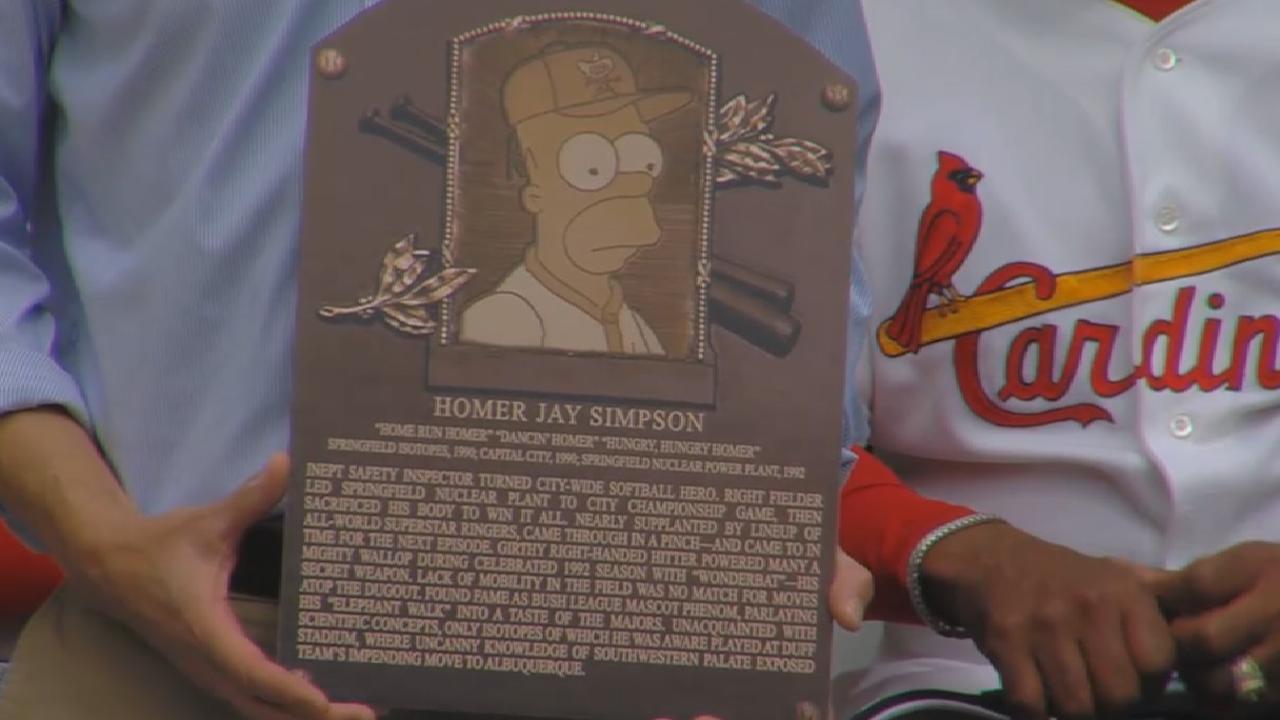 HOF VP reads Homer's plaque