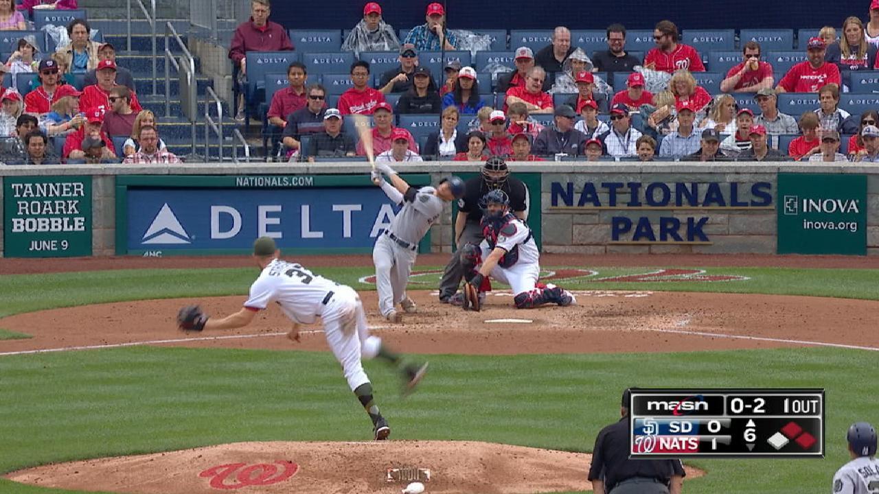 Strasburg dominates Padres in Nats' win