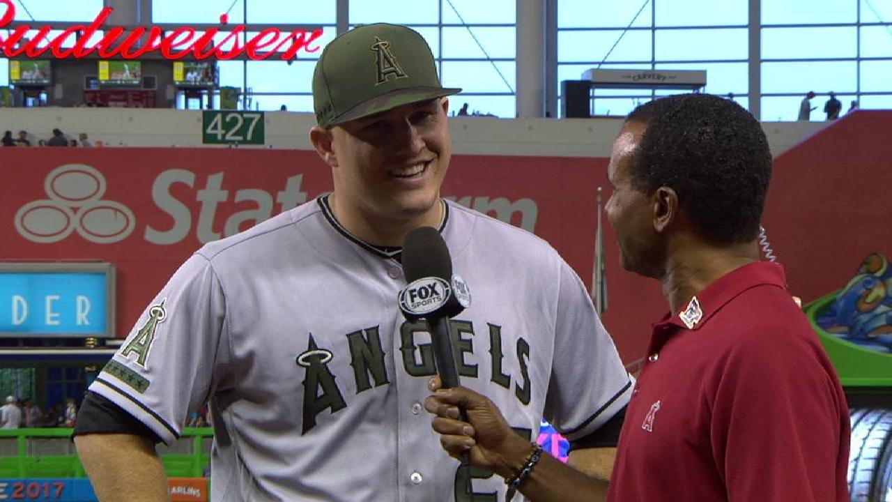 Trout on the offense in the win