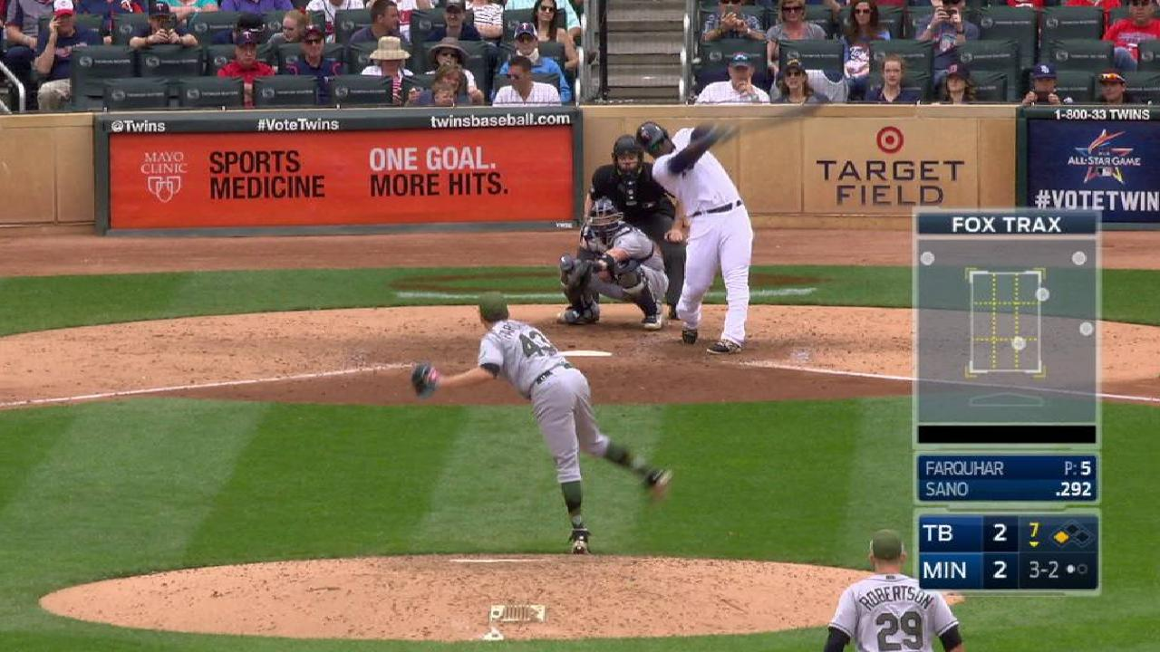 Bullpen soars, then sinks against Twins