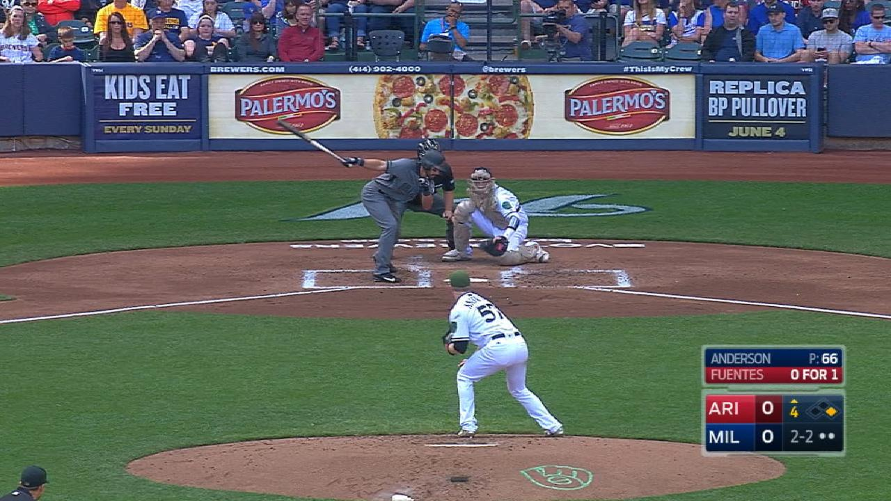 Anderson's 11 K's in 11 seconds