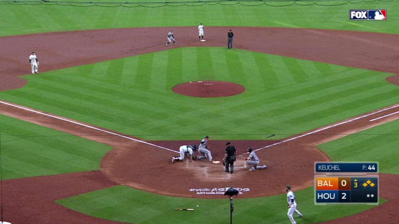 Offense, pitching scuffle during O's slide