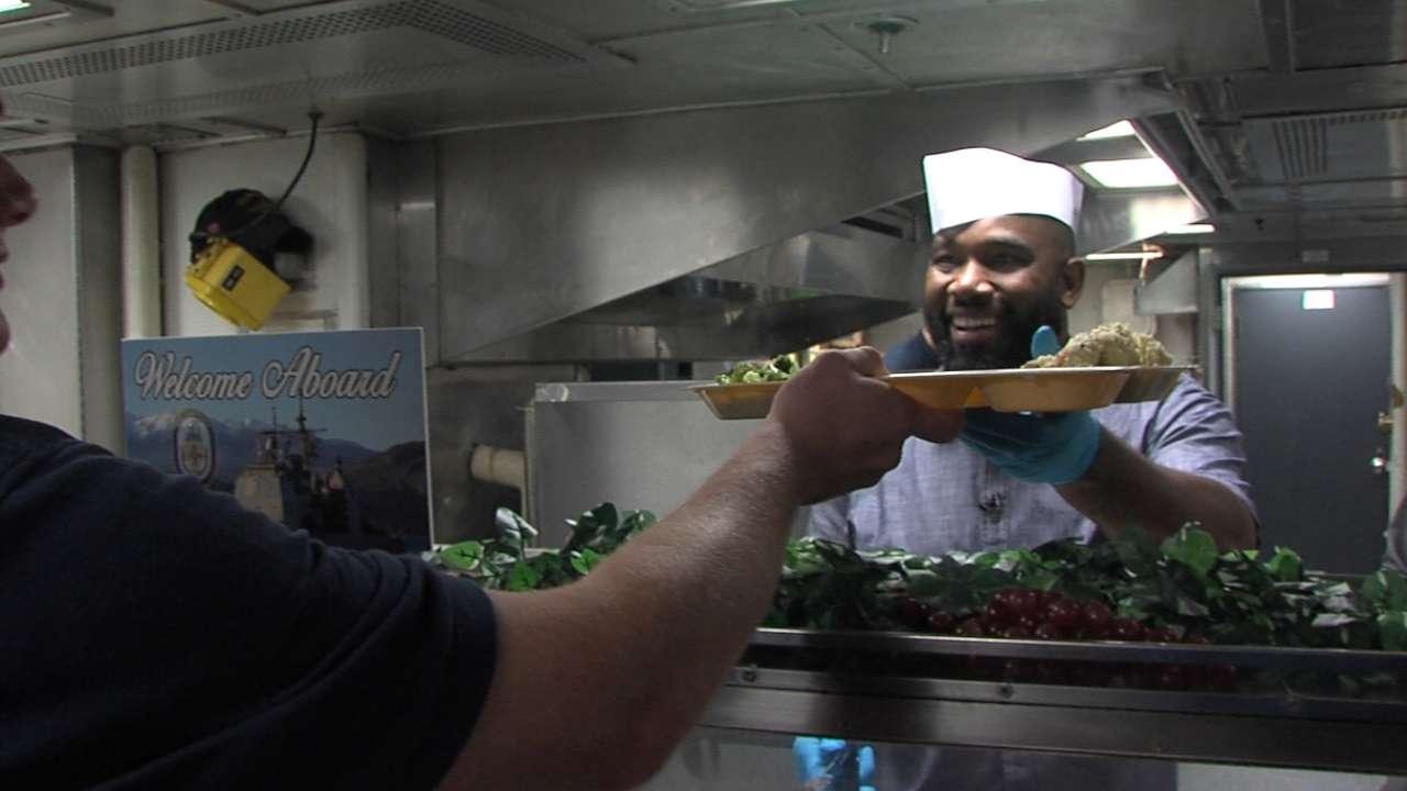 Anderson serves Navy kitchen