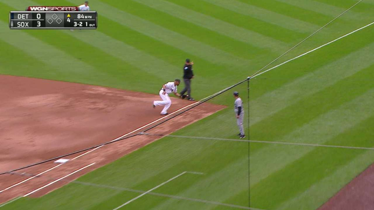 Abreu flashes the leather