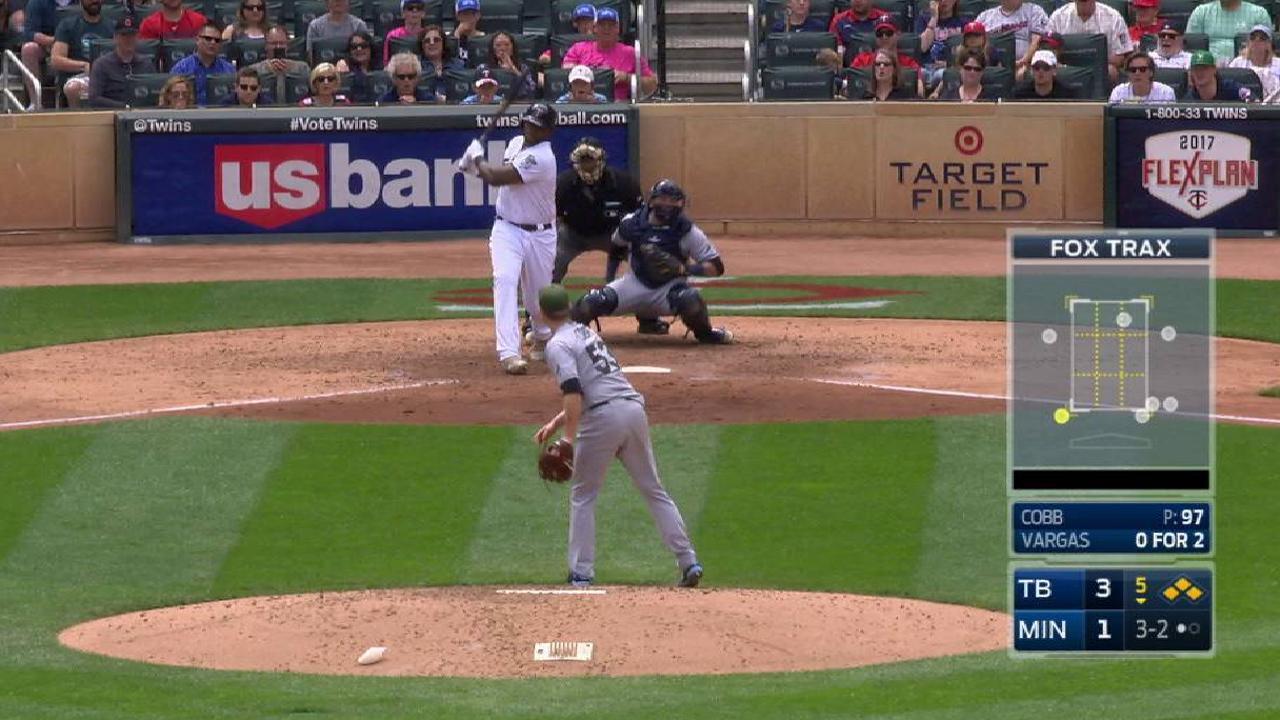 Cobb's clutch strikeout