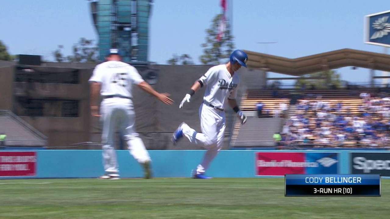 Bellinger slugs way into Dodgers lore