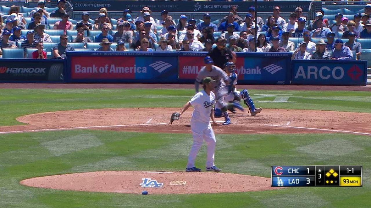 Kershaw escapes bases-loaded jam