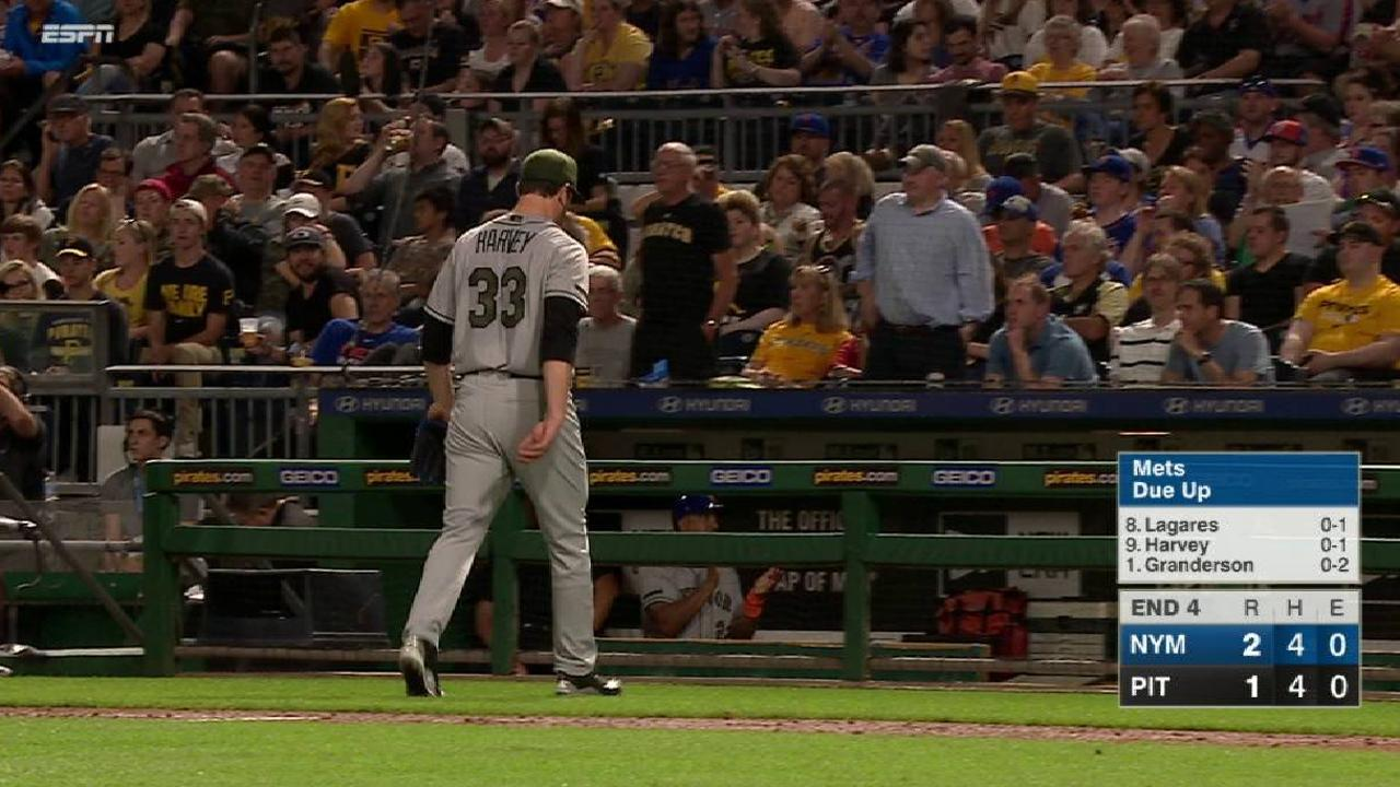 Harvey strikes out Mercer