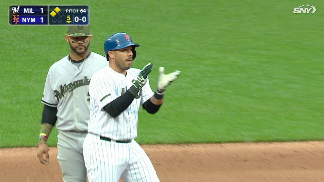 Rivera's RBI double to left