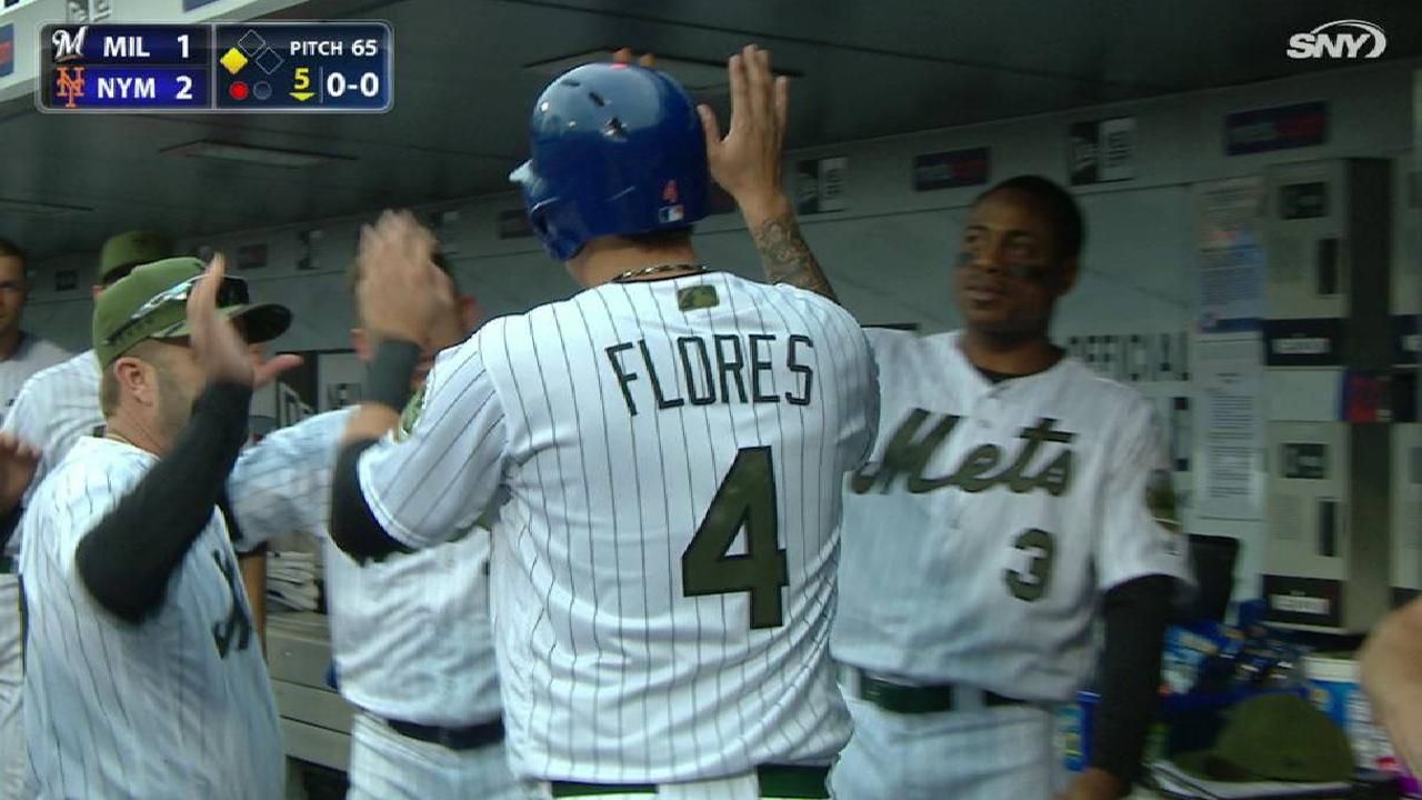 Brazo, bate de Gsellman guían a Mets sobre Cerveceros