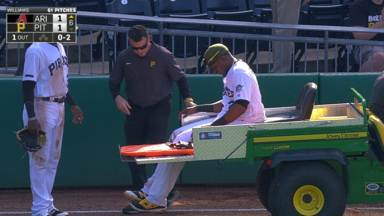 Polanco leaves game with injury