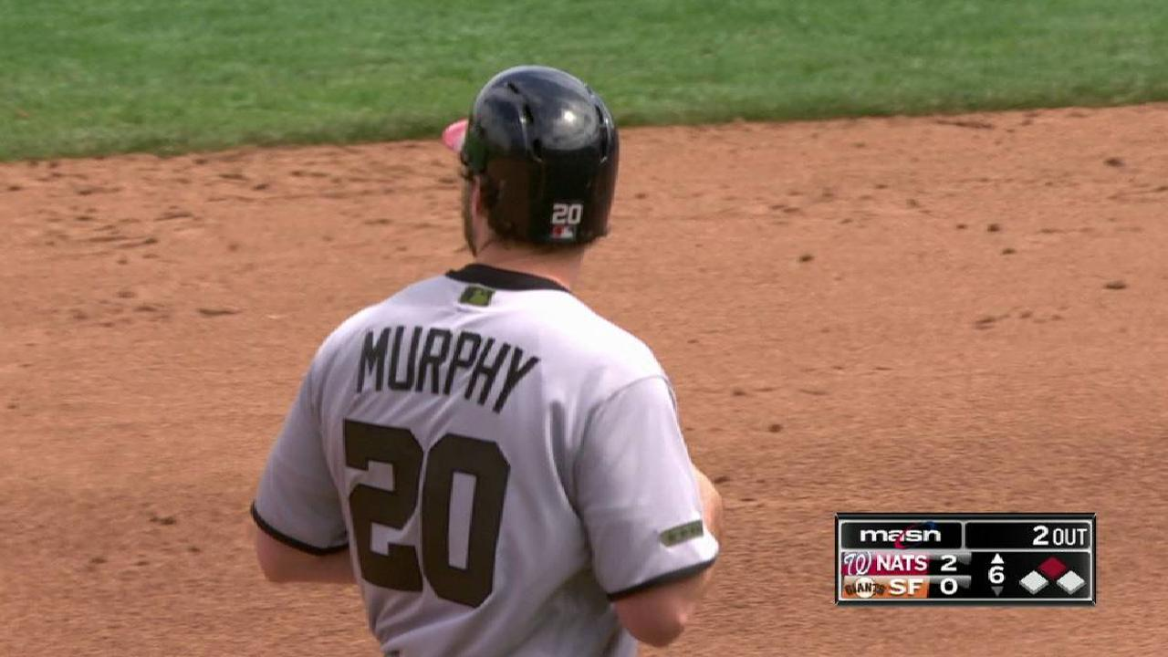 Murphy's RBI double to right
