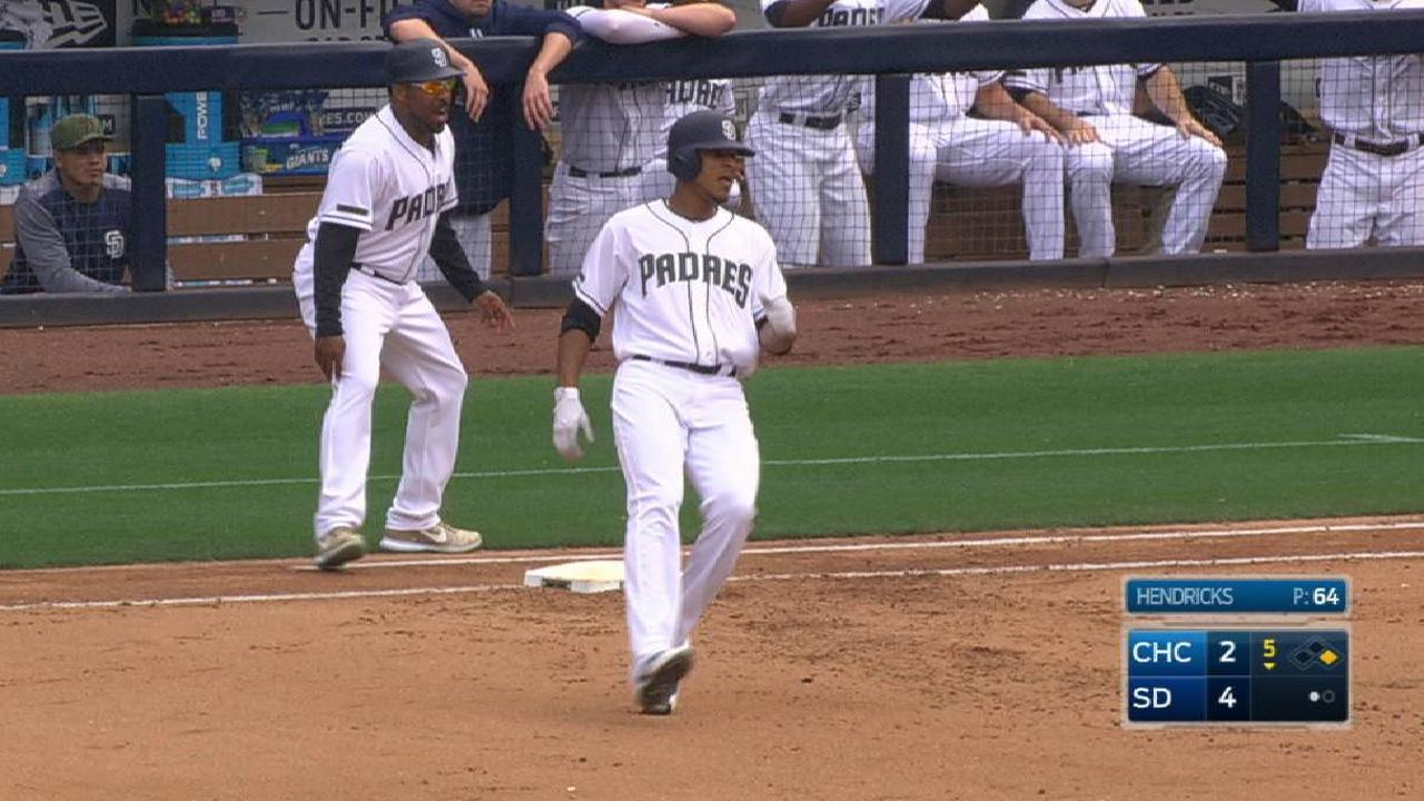 Torres' first Major League hit