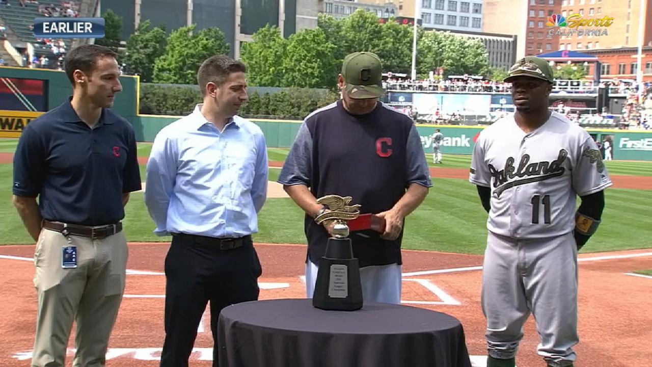 Rajai returns to Cleveland, talks World Series