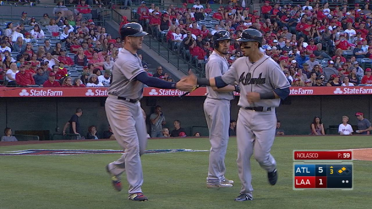Braves ride 6-run 3rd to win vs. Angels