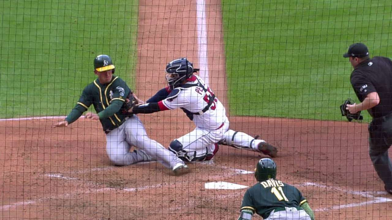 Brantley nabs Healy at home