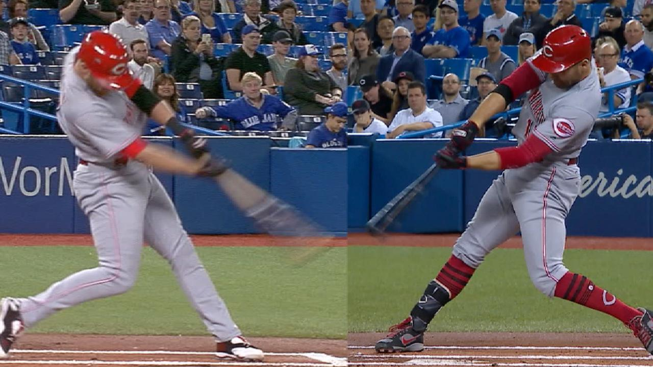 Cozart, Votto go back-to-back