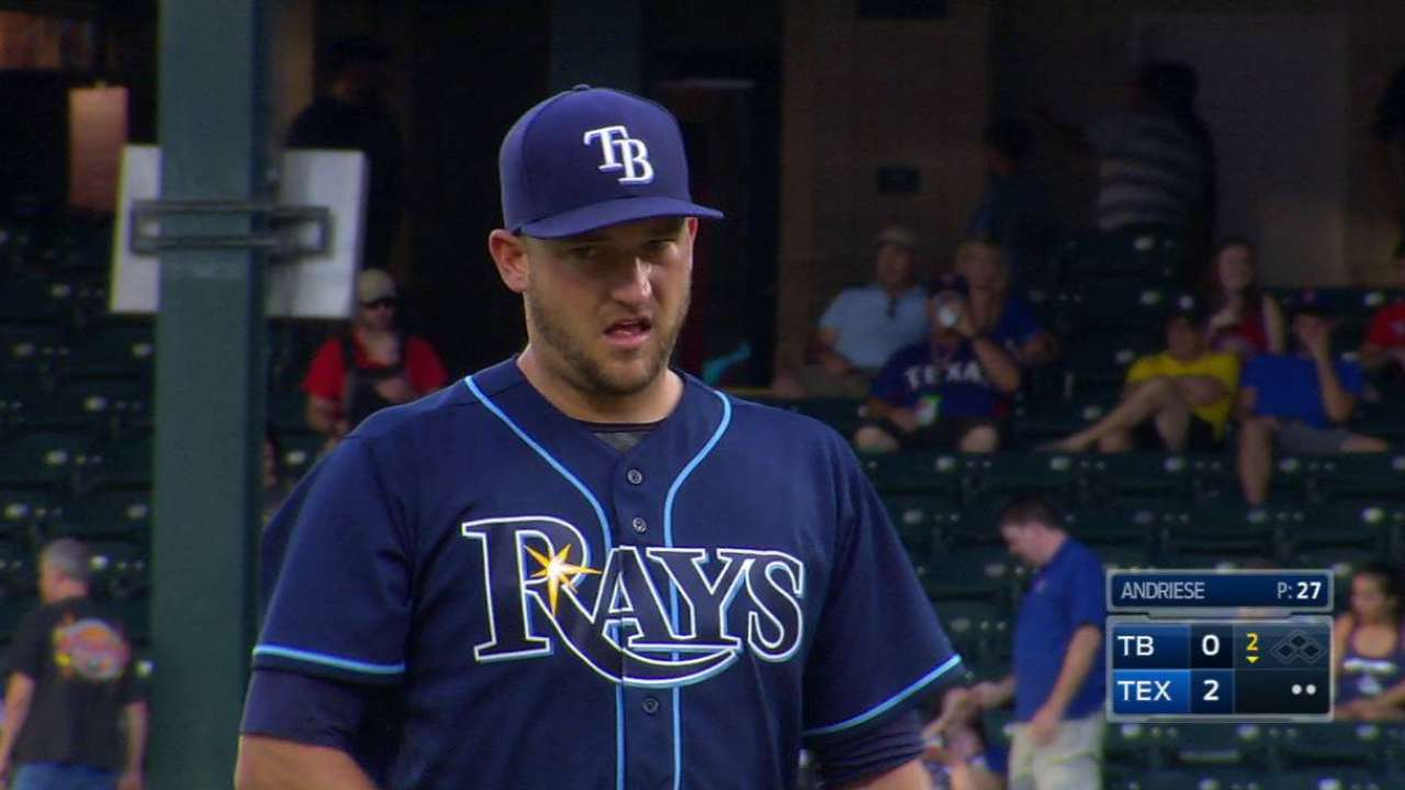Rays place Andriese on DL in series of moves