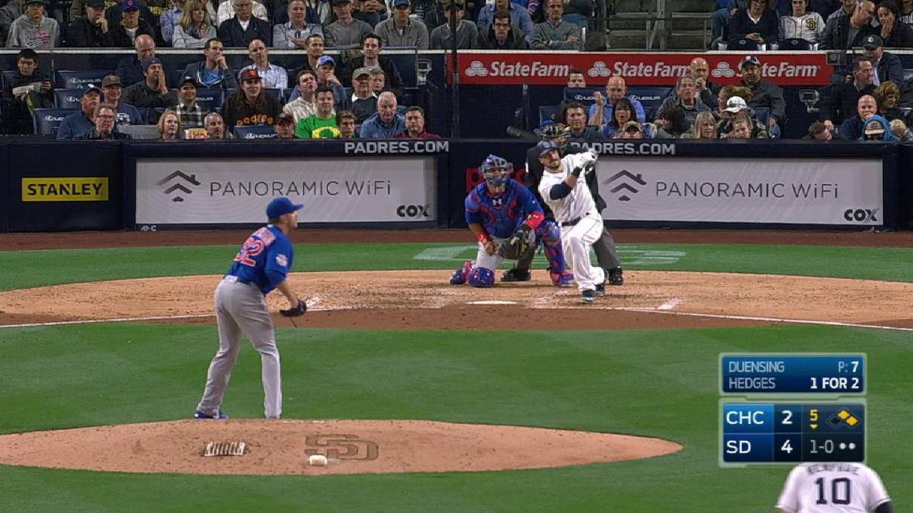Hedges' 4 RBIs puts Cubs under .500