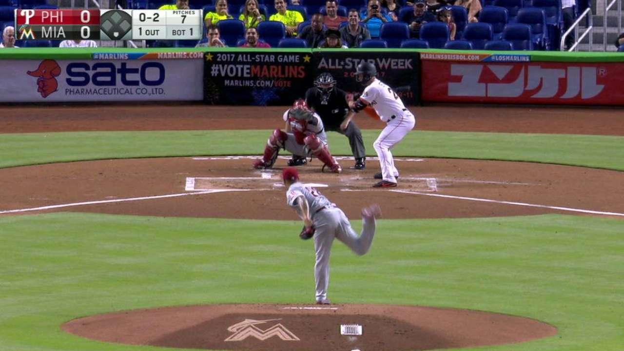Velasquez strikes out Stanton