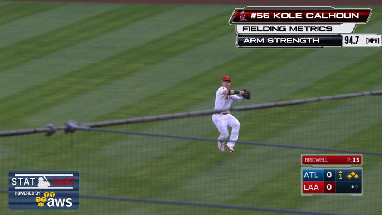 Statcast: Calhoun's 95-mph throw