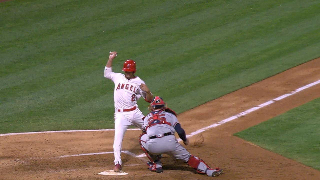 Angels plate nine in the 3rd
