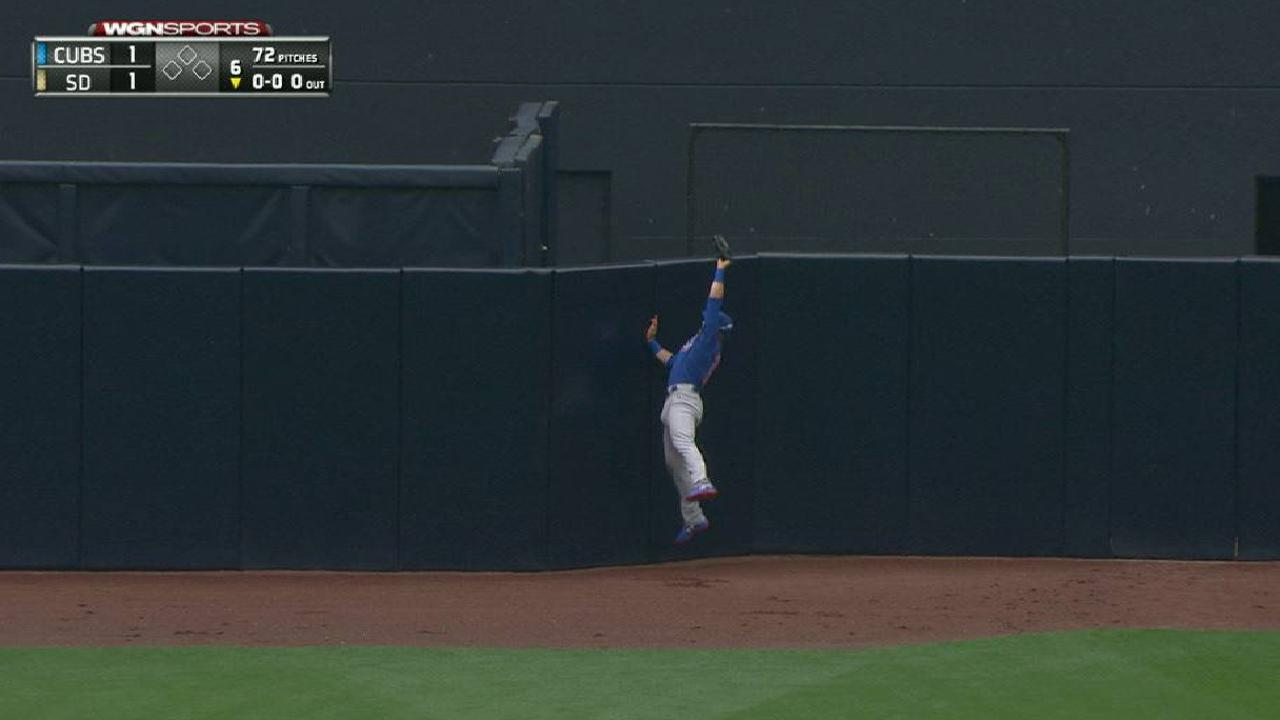 Happ's leaping catch in center