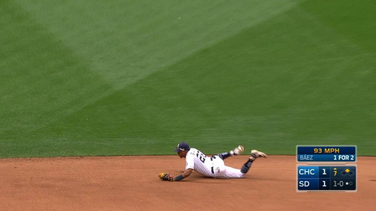Solarte's smooth diving stop